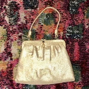 Vintage 1950s After Five Gold Purse and Coin Purse